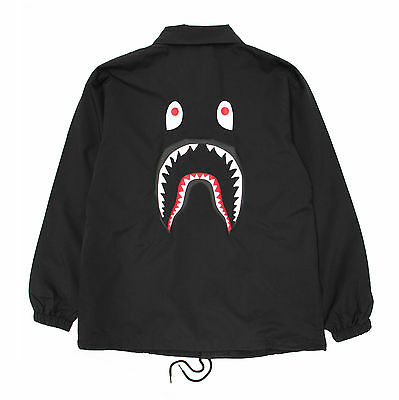 Shark Coach Jacket hoodie off bape white palace NEW