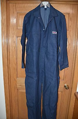 Vintage Denim Big Mac Coveralls Overalls  Sz 48 R New Made in USA