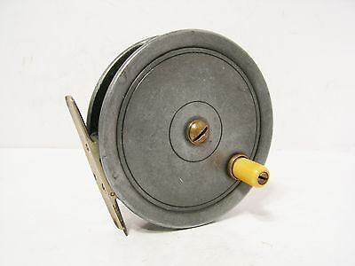 """Vintage Antique Alloy Dingley 3 ½"""" Contracted Trout Fly Fishing Reel"""