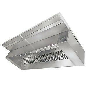 Captive Aire 8' L 430 Stainless Steel Make-Up Air Hood (Complete) with 2 Fans an