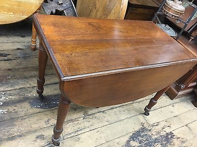 Antique WALNUT DROPLEAF TABLE American Walnut W/ 4 Leaves 1880s