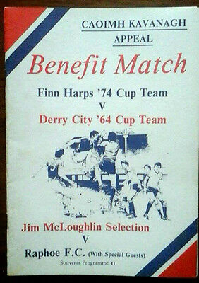 Finn Harps 74 X1 V Derry City 64 Cup Winners 1980S Kavanagh Appeal