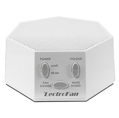 LectroFan White Noise and Fan Sound Machine - White, Good Sleep Tool for Family