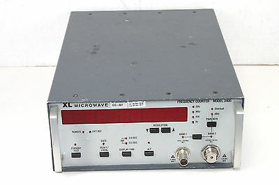 "XL Microwave 3400 W3 40Ghz Millimeter Frequency Counter ""For Parts or Repair"""