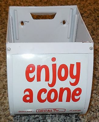 vintage eat it all ice cream cone metal dispenser collectible display rare