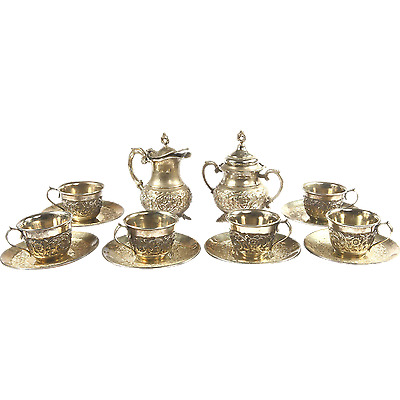 Gorgeous Armenian Hand Made Tea and Coffee set from Old Istanbul