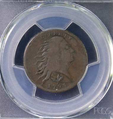1793 1C Wreath Large Cent Vine and Bars Edge PCGS F Details 82419103