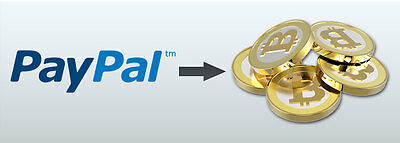 0.01 BTC Digital Transfer to your wallet -Paypal to Bitcoin-