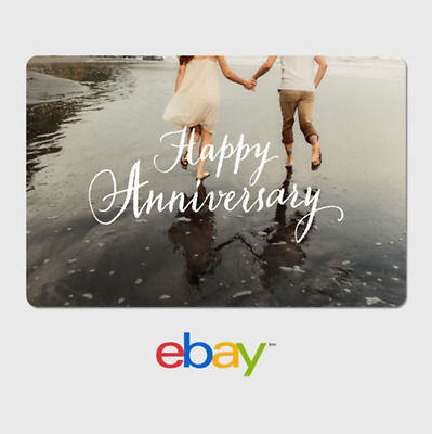 eBay Digital Gift Card - Anniversary Holding Hands-  Email delivery