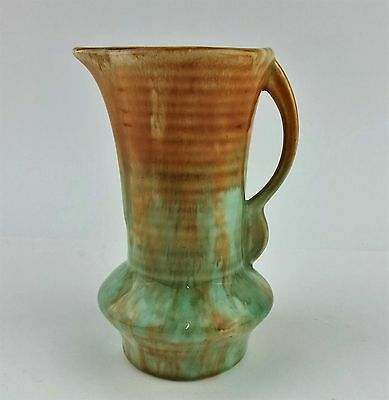 1930s DRIP GLAZED SMALL ART DECO POTTERY JUG VASE No. 47