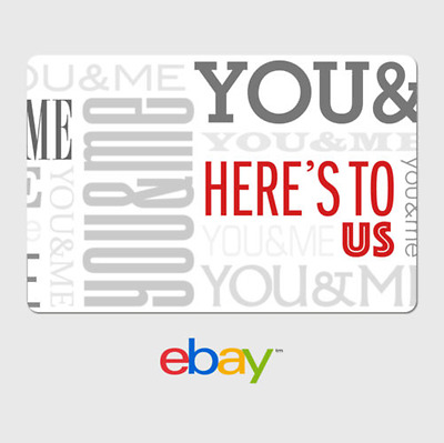 eBay Digital Gift Card - Anniversary Here's To Us-  Email delivery