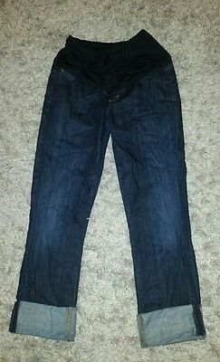 Citizens of Humanity Maternity Cropped Jeans Pants Belly Panel 26 Dark rolled Up