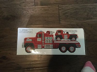 Hess fire truck and ladder rescue- brand new