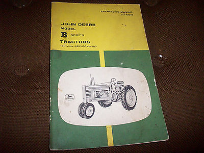 Original 1960's John Deere Model B Series Tractor Operator's Manual