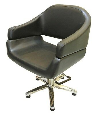 Hairdressing Client Chair with Pump Lift - black - AUS Seller