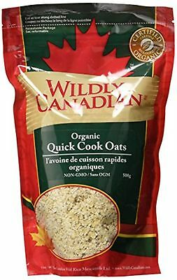 Wildly Canadian Organic Quick Cook Oats, 500 Gram