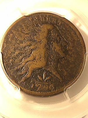 1793 S-9 R-2 PCGS VG Details Vine and Bars Edge Wreath Large Cent Coin 1c