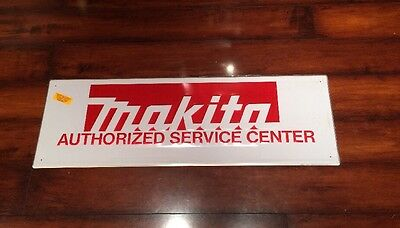 Makita Power Tools Vintage Embossed Metal Sign New Condition
