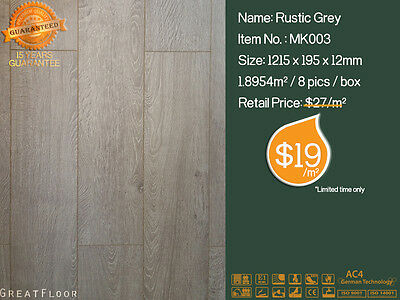 12mm AC4 High Quality Laminate Flooring Floating Flooring Timber Boards /MK003