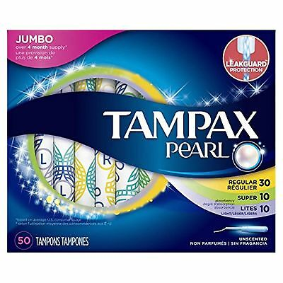 Tampax Pearl Plastic Triple Pack Light/Regular/Super Absorbency Unscented Tam...