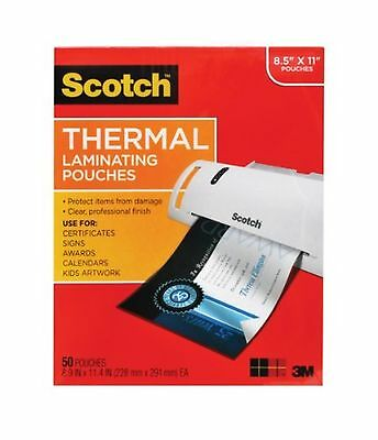 Scotch Thermal Laminating Pouches 8.9 x 11.4-Inches 3 mil thick 50-Pack (TP38...