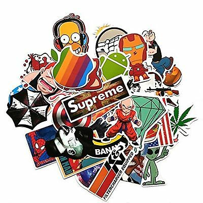 (Pack of 50) Stickers Skateboard Snowboard Vintage Vinyl Sticker Graffiti Lap...