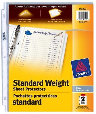 Avery Standard Weight Sheet Protectors, Clear, 50 Sheets (74305)