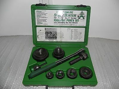 """Greenlee  1/2"""" - 2"""" standard knockout punch and dies in Greenlee 7238SB case"""
