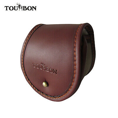 Tourbon Fly Fishing  Reel Protective Storage Bag Pouch Case Cover Canvas Leather