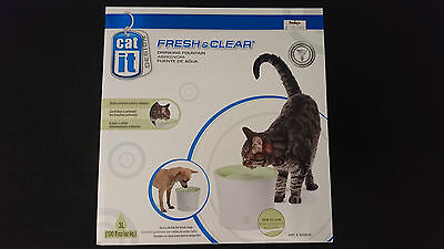 Catit Design Fresh & Clear Drinking Fountain for Cats 3L/100oz - COMPLETE IN BOX
