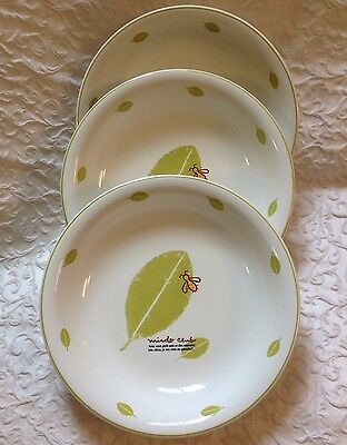 Set of 3 Vtg Mister Donut Miado Club Bee Collectible Retro Soup Bowls Pottery