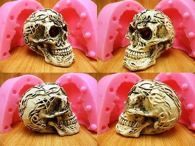 Roman pattern skull Chocolate Candy Jelly Cake Tools Bakeware 3D Silicone Mold