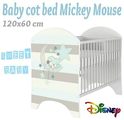 Baby Cot Disney For Baby Child 120X60 Cm With Baby Mickey Mouse