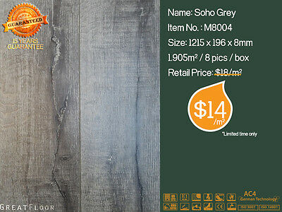 8mm AC4 High Quality Laminate Flooring Floating Flooring Timber Boards M8004