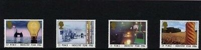 Mint 1986 Gb Industry Year Set Of 4  Muh Stamps