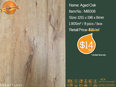 8mm AC4 High Quality Laminate Flooring Floating Flooring Timber Boards M8008