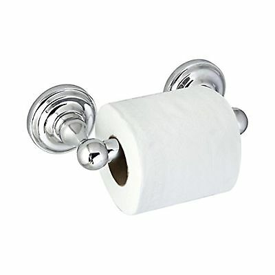 MODONA Toilet Paper Holder with Stainless Steel Roller - Polished Chrome - Vi...