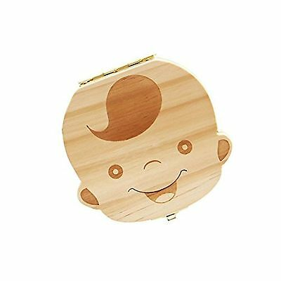Tooth Box organizer for baby save Milk teeth Wood storage box great gifts 3-6...