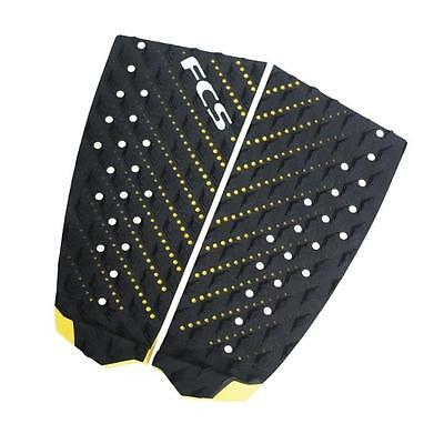 FCS T-2 Surfboard Tail Pad New Traction Deck Grip In Black/Yellow Surfing FCS II