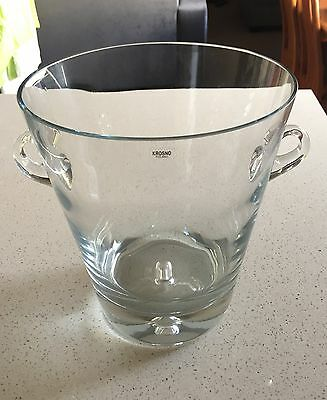 New Krosno Jensen Champagne Bucket 4L - Clear Glass