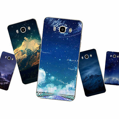 Case For Samsung Galaxy J7 2016 S4 S5 Soft TPU Phone Back Cover Landscape