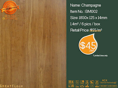 Strand Woven Bamboo Flooring 14mm High Quality Floating Flooring Bamboo boards