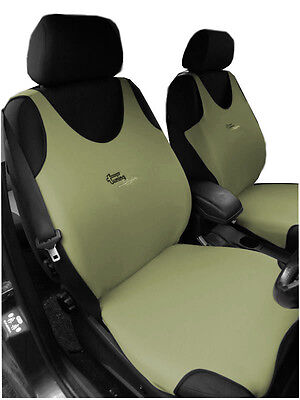 2 Beige Front Vest Car Seat Covers Protectors For Volvo V70