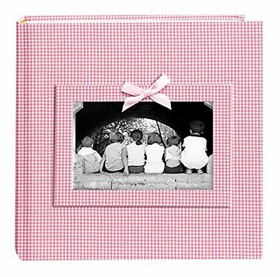 Pioneer Photo Albums 200 Pocket Pink Gingham Fabric Frame Cover Photo Album f...
