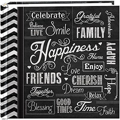 "Pioneer Photo Albums 200-Pocket Chalkboard Printed ""Happiness"" Theme Photo Al..."
