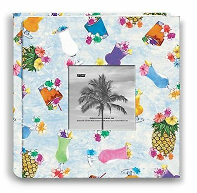 Pioneer Photo Albums 200-Pocket Tropical Drinks Design Fabric Frame Cover Pho...