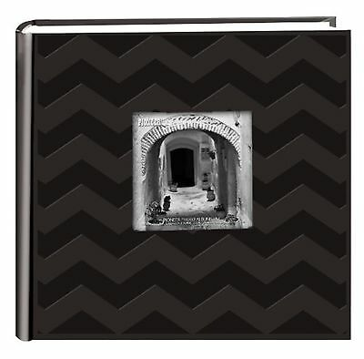 "Pioneer Photo Albums DA-200CVR 200 4x6"" Pocket Chevron Embossed Frame Leather..."