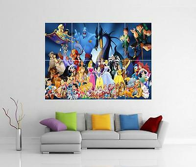 Disney Characters Giant Wall Art Photo Picture Print Poster