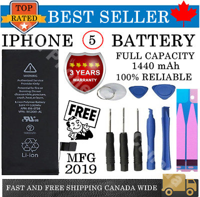 Brand NEW Original OEM Replacement iPhone 5 Battery 1440 mAh KIT