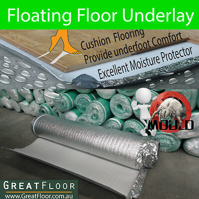 2.5mm 2 in1 Underlay for Laminate Flooring Floating Timber Bamboo Flooring Floor